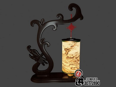 Chinese-style wooden lamp,3D models
