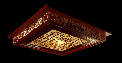 chinese style red hollow ceiling lamp 3d model download,free 3d