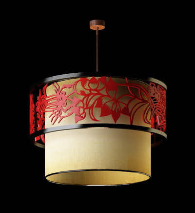 Chinese Style Pendant Lamp 1 3d Model Download Free 3d