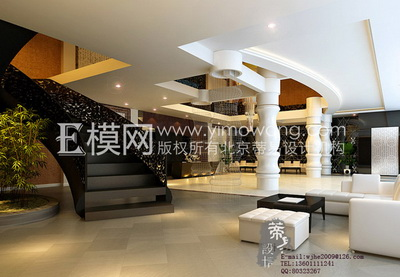 White Modern Hotel Lobby 3d Model Download Free 3d Models
