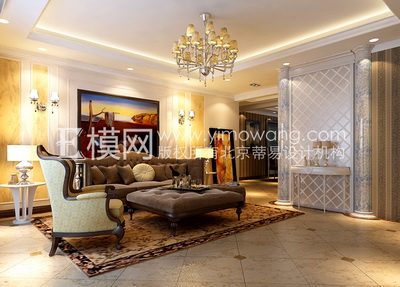 extraordinary european style living room design 3d house free pictures | European-style luxury living room design 3D Model Download ...