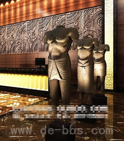 Personalized art hotel lobby,3D models