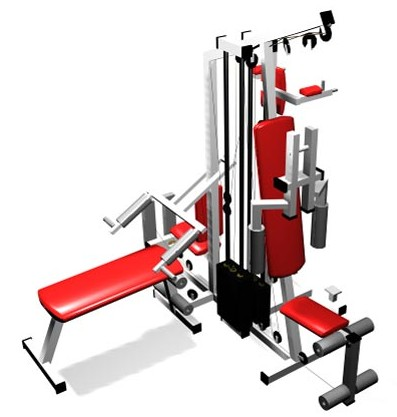 Combination of fitness equipment,3D models