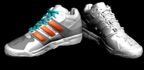 White sneakers,3D models