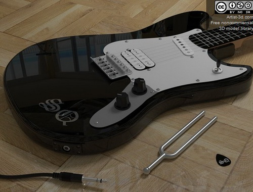 Electric guitar fashion,3D models