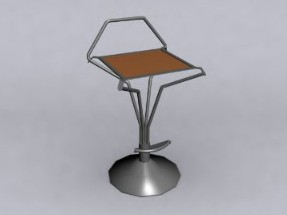 Bar chair with,3D models