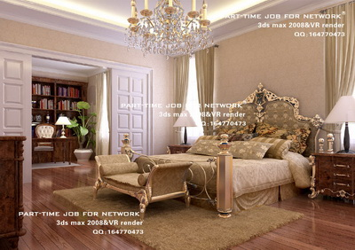 Department of European-style luxury bedroom light,3D models