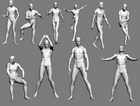 3d People model19-Human male / female human body