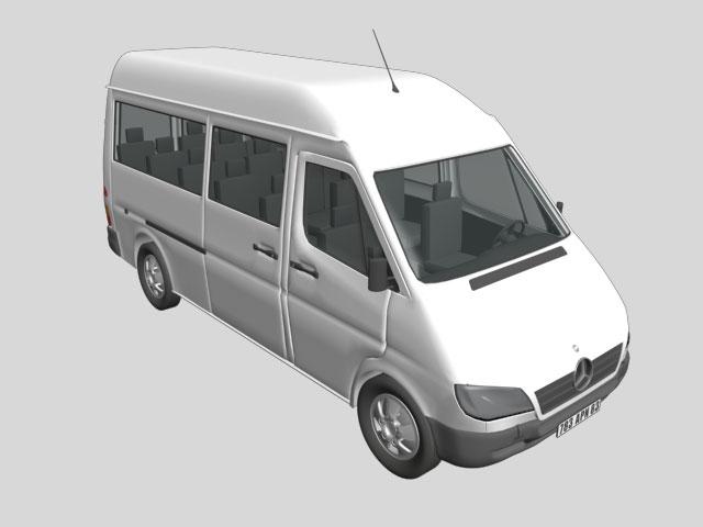 Mercedes benz vans cg modelsmodels 3d model download free for Mercedes benz van models
