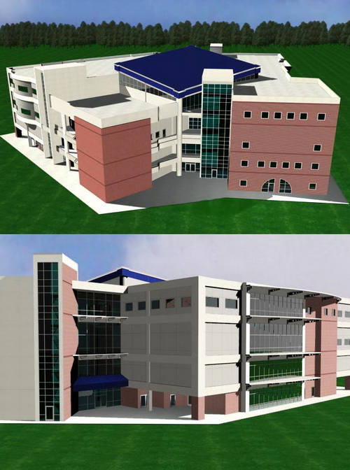 School teaching building 3d model download free 3d for Build house online 3d free