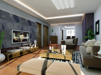 VR model living room (with materials, lighting)
