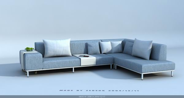 Modern style sofa 3d model download free 3d models download for Sofa 3d model