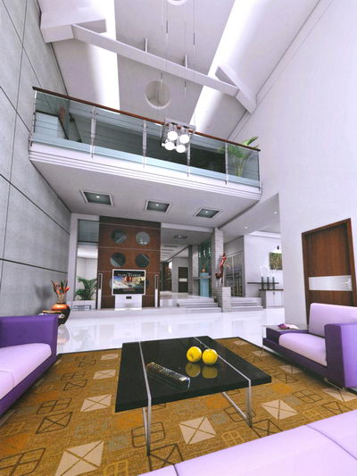Room Design Free: Living-room Design-purple 3D Model Download,Free 3D Models
