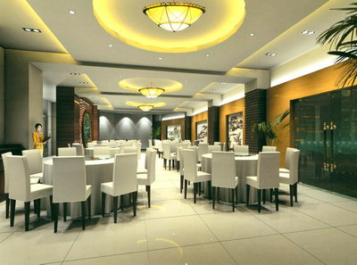 Medium Size Separate Room in a restaurant 3D Model Download