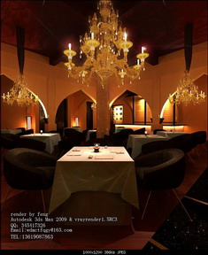 Romantic Style Western Restaurant 3DsMax Model Download Free