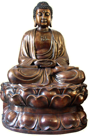 Metal Sculpture Of BUDDHA 3DS MAX Model Download Free