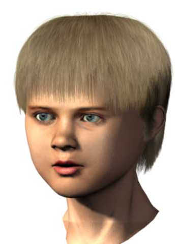 Human Body 3D Model: Blonde Hair Boy's Head