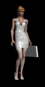 Human Body 3D Model: Lady in Silver Dress