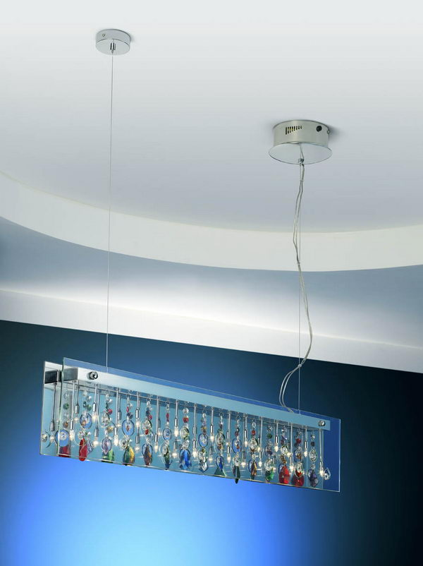 Glass Rectangle Pendant Lamp