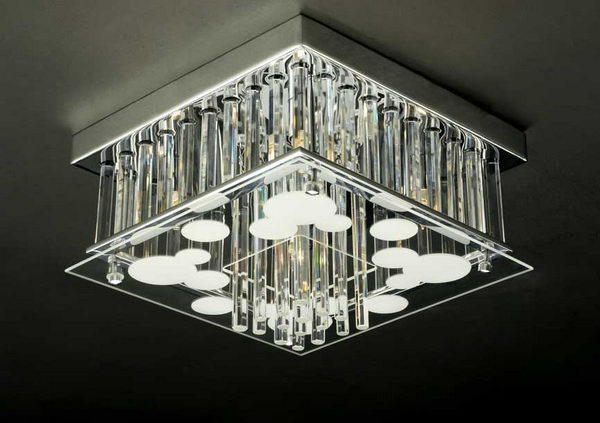 Luxury Cuboid Crystal Pendant Lamp 3D Model Download,Free 3D ...