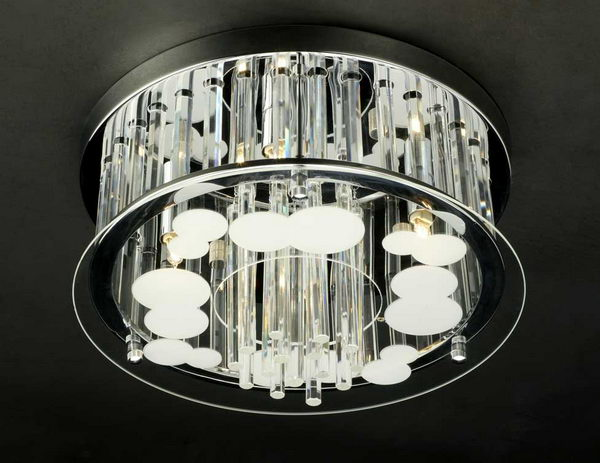 Luxury Cylinder Crystal Pendant Lamp