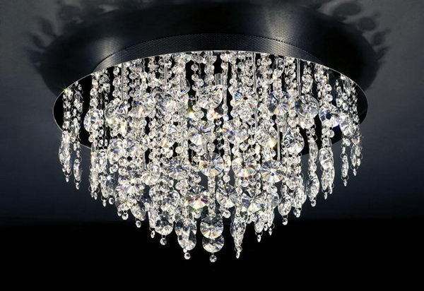 Modern Style Heart Shape Crystal Pendant Lamp 3ds max model