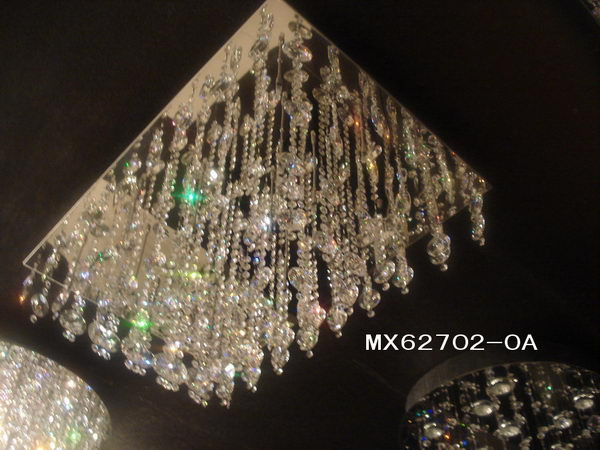 Luxury Rectangle Crystal Ceiling Lamp