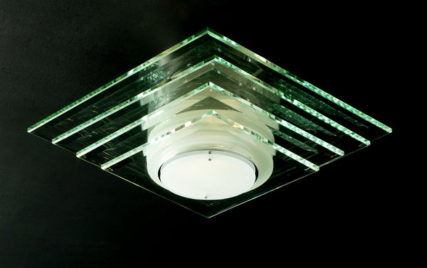 Modern Style Rectangle Glass Ceiling Lamp