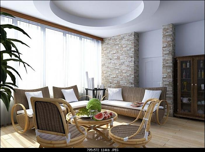 Simple and Comfortable Countryside Style Living Room 3Ds MAX model Download Free
