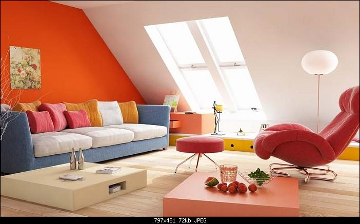 Lovely loft room design 3d model download free 3d models for Living room designs 3d model