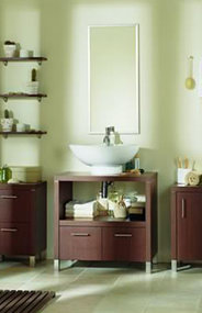 Washbasin and shelves