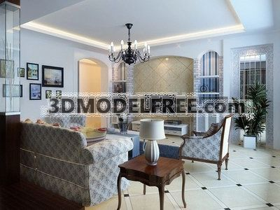Livingroom In Mediterranean Style Collection 2