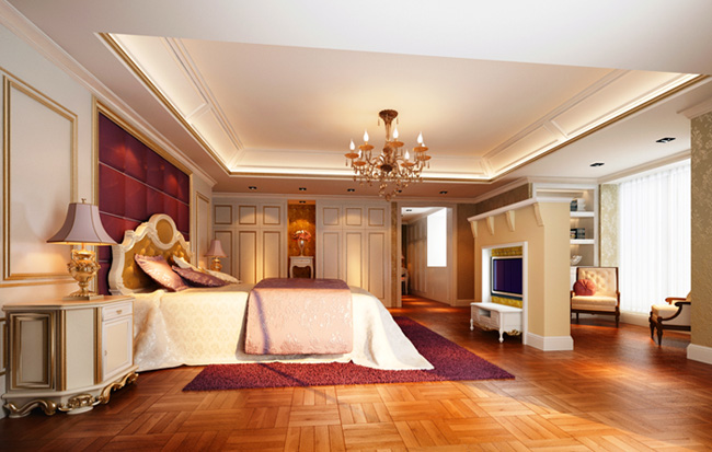 Deluxe european bedroom design 3d model download free 3d for Bedroom designs 3d model
