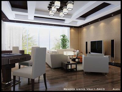Lively Modern Style Interior Sence Design