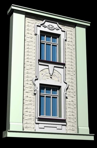Austrian style architecture demo windows and doors 3d for Windows n doors