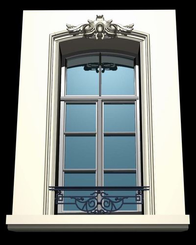Belgian Style Architecture Demo Windows And Doors 3d