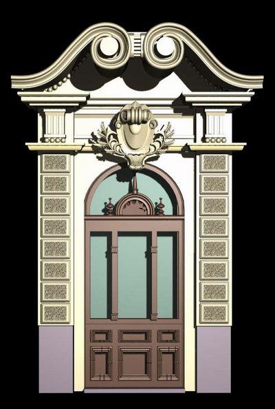 Monaco architecture demo windows and doors 3d model for European style windows