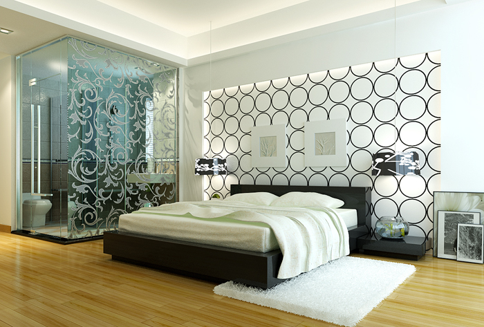 Simplism Stylish Bedroom 3DS Max Model Download Free 3DMAX Material Library