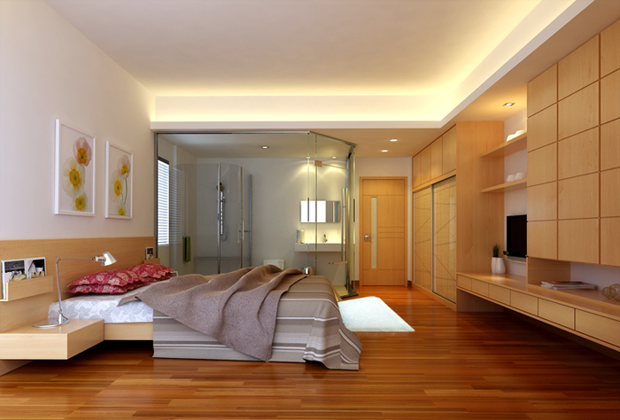 stylish simplism bedroom - 3d Design Bedroom