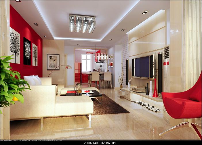 Modern elegant living room 3d model download free 3d for Model living room ideas
