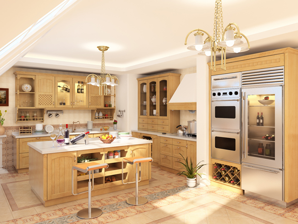 European modern style kitchen 3d model download free 3d for Model kitchen design