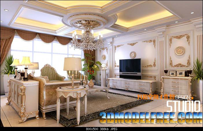 Deluxe house decoration elite life 3d model download free for Decoration 3ds max