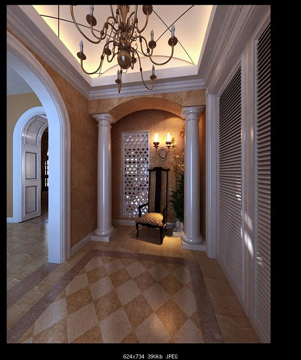 European Style Lobby Design 3d Model Download Free 3d