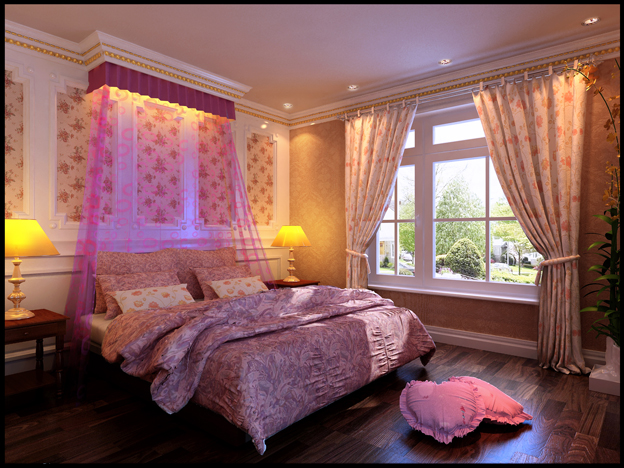 Continental Bed Room: PINK TONE