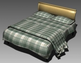 Double Bed Design Series E Green Buffalo Check Sheet