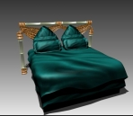 Double Bed Design Series C£º Dark Green European Style Bed