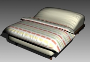 Double Bed Design Series A Iridescent Striped
