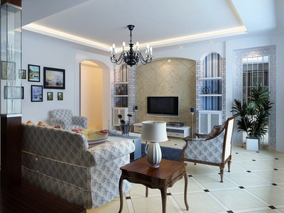Modern Accessories  Home on Modern Home Decor B  Mediterranean Living Room 3d Model Download Free