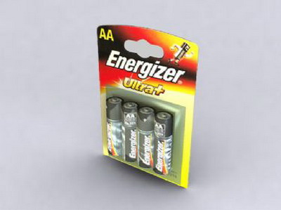 Packaged AA Batteries 3DsMax Model