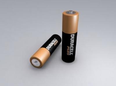 AA Duracell Batteries 3DsMax Model